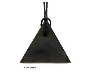 Shungite hanger driehoek voor de mannelijke energie